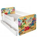 Łóżko z BARIERKĄ 140 x 70 cm + szuflada - JURA