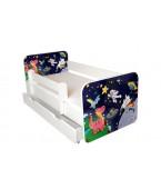 Łóżko z BARIERKĄ 160 x 80 cm + szuflada - KOSMOS