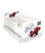 Łóżko z BARIERKĄ 160 x 80 cm + szuflada - Formula-model IGOR