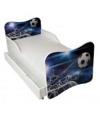 Łóżko z szufladą i materacem  140 x 70 cm - Piłka