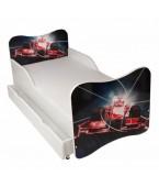 Łóżko z szufladą i materacem  140 x 70 cm - Wyścigówka