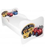 Łóżko z materacem 160 x 80 cm - Wyścigówka
